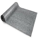 etm Sicherheitsmatte gegen Glätte | Grau | rutschfeste Granulat Beschichtung | deutsches Qualitätsprodukt | 120 cm Breite | 2,5 m Länge
