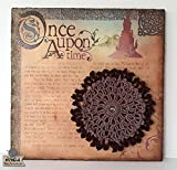 Cuadro crochet adorno de pared, Wall Art Mandala creativo, lámina decorativa sobre corcho con mandalas en tonos marrones. Pieza única. Listo para enviar.