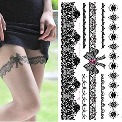 EROSPA® Tattoo-Bogen temporär - Strumpfband / Armband - 10 x 21 cm