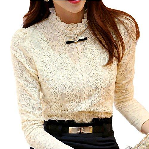 minetome-damen-bluse-sexy-lace-blusen-spitze-langarmshirts-slim-fit-stehkragen-ol-business-in-2-farb