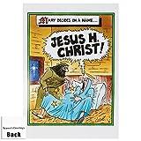 Jesus H Christ Weihnachten Karte