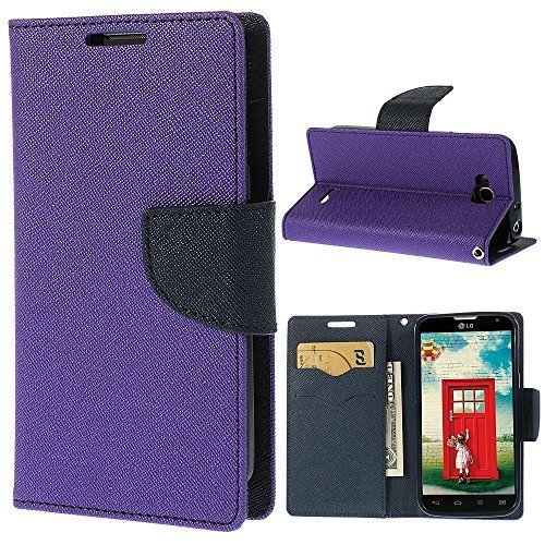 Samsung Galaxy Note 3 Neo Mercury Flip Wallet Diary Card Case Cover (Purple By Online Street)  available at amazon for Rs.199