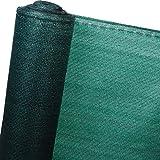 WOLTU GZZ1183m7 Zaunblende Tennisblende Schattiernetz Sichtschutz Windschutz Staubschutz Sonnenschutz Gewebe Netz , grün , 1 , 8x50m
