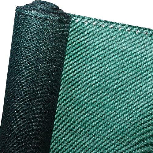 Zaunblende Tennisblende Schattiernetz Sichtschutz Windschutz Staubschutz Sonnenschutz Gewebe Garten Netz,grün, 1,2x10m (GZZ1181m2)