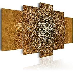 murando - Cuadro acústico Mandala Ornamento 200x100 cm - decoración de Pared - Lienzo 5 Piezas - Cuadros XXL - Panel de Pared - Silencio f-A-0515-b-p