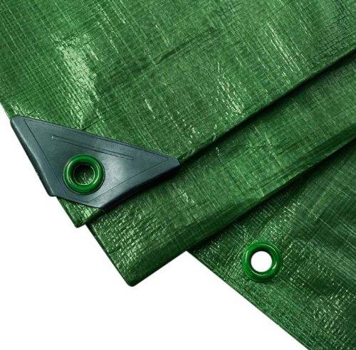 NOOR Abdeckplane PROFI 140g/m² Grün I 8 x 10 m I Allzweckplane für Schutz vor Witterung I Ideal geeignet für Gartenbereich I UV-stabilisiert, beidseitig beschichtet, wasserfest und abwaschbar -