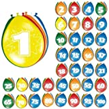 Folat 8 Luftballons zum 40. Geburtstag