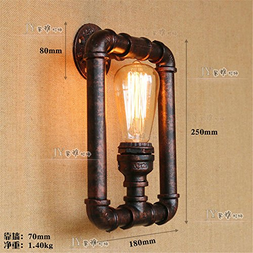 Schloss-loft (Industrial Vintage Wandleuchte die Wandleuchte tube TV Wand Lampe leuchtet Schloss Treppen Loft Bar gang Wandleuchten)