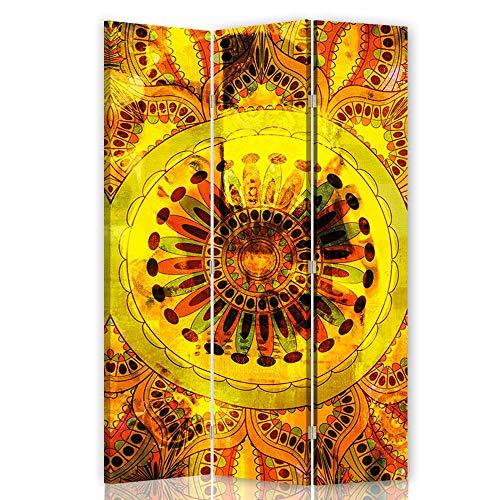 F FEEBY WALL DECOR Foto Biombo Mandala 3 Paneles Unilateral