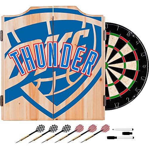 Trademark Gameroom NBA7010-OCT2 NBA Dart Cabinet Set mit Dartpfeilen und Board - Fade - Oklahoma City Thunder (Thunder Board-spiel)
