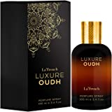 La French Luxure Oud, a Luxurious Perfume blended with mixture of Oudh, Rose and Agarwood, Eau De Perfume 100ml Ideal for Men