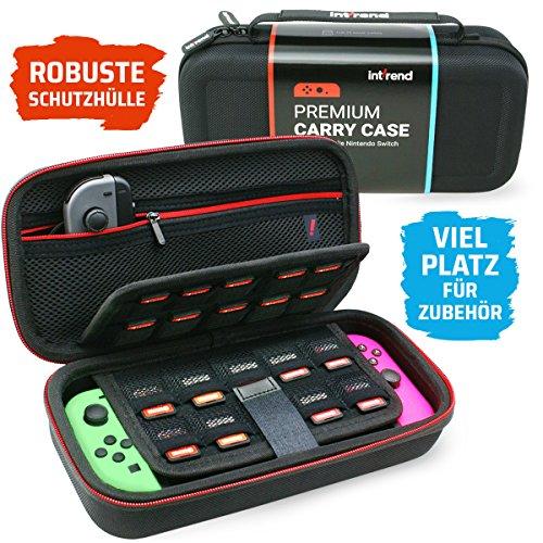 int!Rend Switch Tasche I Extrem wiederstandsfähige Aussenhülle I Viel Platz für Switch-Konsole, 2 Joy-Cons, 29 Spiele und Viel Zubehör I Passend als I Nintendo Switch Tasche I Nintendo Switch Case