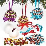 Kits infantiles de bolas de Navidad con lentejuelas para crear y colgar en el árbol (pack de 3)