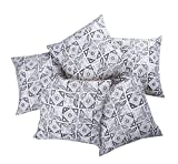 #8: Jaipur Classic Hand Printed Cotton Cushion Covers   Set of 5   16x16 inches   40x40cm