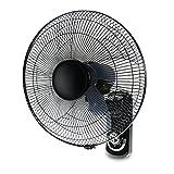 Xxwn Ventilatore da parete Ventilatore elettrico da parete da 16 pollici Home Restaurant Ventola da scuotitore, comando a fune a doppia trazione, regolazione a 3 velocità, nero