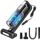 Foxnovo Aspirapolvere Auto, 6000PA LED Aspirabriciole Potente DC 12V Secco e Umido Aspirapolvere per Auto con Filtro…