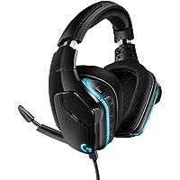 Logitech G635 Kabelgebundenes RGB Gaming-Headset, 7.1 Surround Sound, DTS Headphone:X 2.0, 50 mm Pro-G Treiber, Bügelmikrofon mit Flip-Stummschaltung, PC/Xbox One/PS4/Nintendo Switch - schwarz