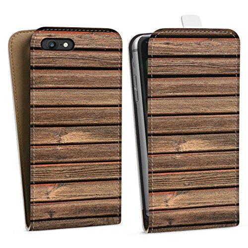 Apple iPhone X Silikon Hülle Case Schutzhülle Holz Look Holzlatten Planken Downflip Tasche weiß