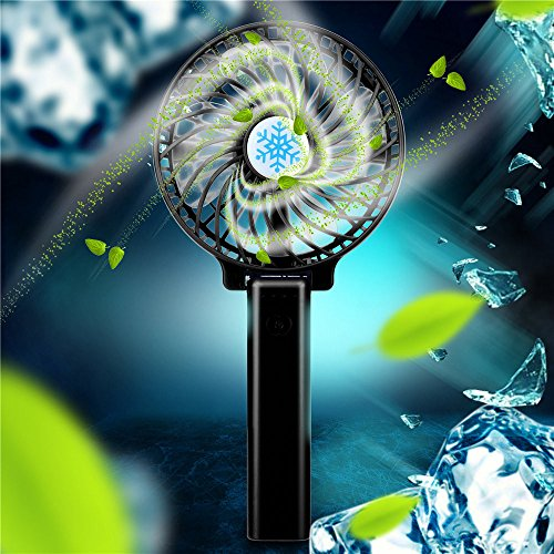 611p1bb1ijL. SS500  - Hot Mini Portable USB Rechargeable High Power 3-Speed Desktop Fan Air Conditioner Durable,Mini Carrying Air Cooler Rechargeable Battery Snowman Air Conditioning Fan USB Pocket Fan for Home Office