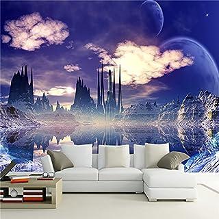 3D Purple Dream Szene Graph TV-Einstellung Wandbild des Wohnzimmer Schlafzimmer Wall Papier Aufkleber, 3XL(14'7