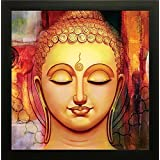 Printelligent Exclusive Framed Wall Art Paintings Of Lord Buddha For Living Room Bedroom And Decoration Purpose Frame Size (12 Inch X 12 Inch, (Synthetic, 30 Cm X 3 Cm X 30 Cm, Special Effect Textured)