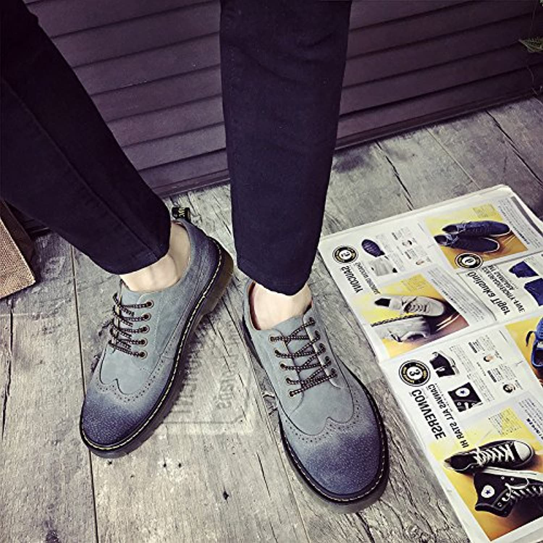 HL-PYL-Martin botas zapatos bajos zapatos All-Match macho coreano,44,gris