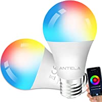 Lampadine LED Alexa Inteligente WiFi E27 [2021Edition], Dimmerabile Lampadina ANTELA Smart 9W 806ML 80W equivalente, RGB…