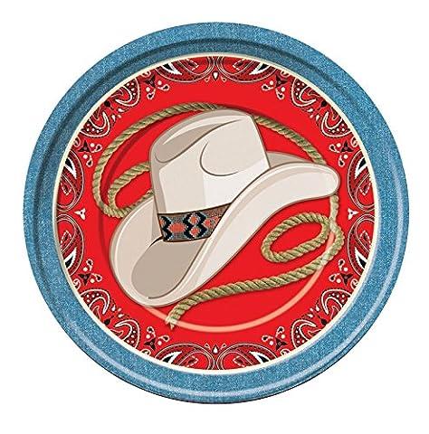 Wilder Westen Cowboy Sheriff Pferde Mottoparty Party Geburtstag Kinder Erwachsene Teller - 8er Set / 23 cm