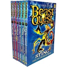 Beast Quest Series 3 Collection - 6 Books RRP £29.94 (13. Torgor the Minotaur; 14. Skor the Winged Stallion; 15. Narga the Sea Monster; 16. Kaymon the Gorgon Hound; 17. Tusk the Mighty Mammoth; 18. Sting the Scorpion Man)