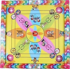 Chhabra ToysCarrom Board with Snake Ladder 2 in 1 Game + [ Free Carrom Powder ] (14 x 14 inches) with Carrom Powder