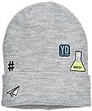 NAME IT Jungen Mütze NITMADGE Knit HAT M NMT, Grau (Grey Melange), 52 (Herstellergröße: 51/52)