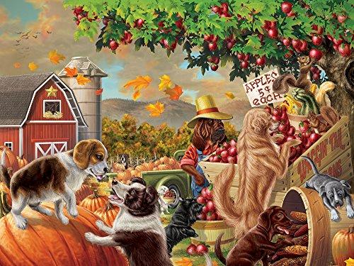 Vermont Christmas Ernte-Markt-Hunde Jigsaw Puzzle 550 Teile - Hund Puzzle Saw Jig