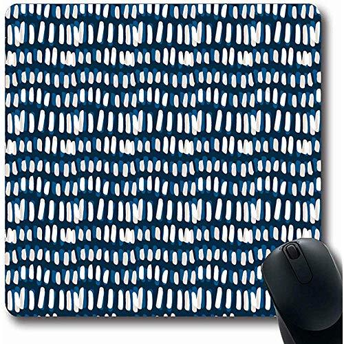 Mauspad Folk Aquarell Streifen Tie Dye Hand Muster Abstrakt Batik Pinsel Pinselstrich Design Geometrische Mausunterlage Mauspads Rutschfeste Gaming Computer 25X30cm -