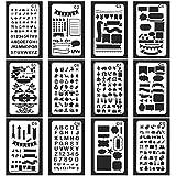 Vancool 24 Stücke Bullet Journal Schablone Set Kunststoff Planer DIY Durable Zeichnung Vorlage für Journal / Notebook / Tagebuch / Scrapbook / Craft-Projekte 4 x 7 Zoll