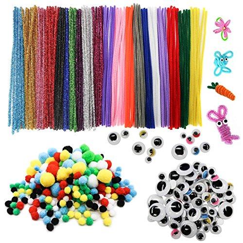 TOAOB 320 pcs Fils Chenille colorés Cure Pipes pour Arts et Métiers Idéal pour créer toutes sortes danimauxInclus pour lartisanat DIY Fournitures dart