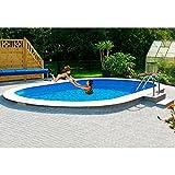 MYPOOL Set : Ovalpool Premium inkl. Sandfilteranlage 400 cm