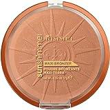 Rimmel Maxi Terra Abbronzante Sunshimmer, Bronzer con Finish Satinato, 004 Sun Star, 17 g