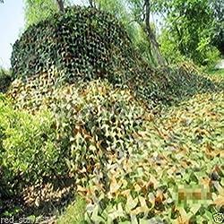NuoYa Filet de Camouflage militaire Woodlands feuille 2 m X 3 m