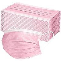 Einweg-Gesichtsmasken/Mundschutz - Atmungsaktiv geprüfte Qualität (100, Rosa)
