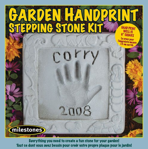 Midwest Products Glass Mosaic Stepping Stone Kit Garden Handprint