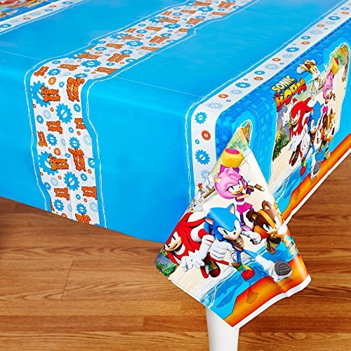 Sonic Boom Party Supplies - Plastic Tablecover (Supplies Party Birthday Sonic)