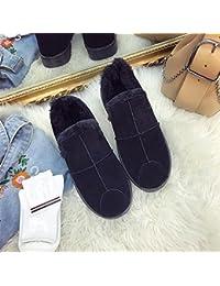 Calzado de invierno Felpa gruesa antideslizante 36-44 zapatos de reina , 44 , black