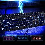 AGiKd-keyboard Federung mechanische Tastatur, DREI-Farben-Hintergrundbeleuchtung Desktop-Computer Notebook verdrahtet Spieltastatur Internet-Café