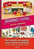 Découpages vintage, maisons et poupées