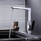 Küche oder Badezimmer Waschbecken Mischbatterie Dusche mit heißem und kaltem Wasser, Dusche Kit Kit einzigen Griff Wasser Mischventil Automatische Wasser drei Duschkabine mit Kupfer Rohr nach obe