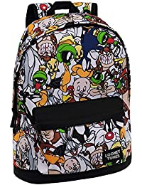 Warner 3262351 Looney Tunes Mochila Escolar, 21.5 Litros, Color Gris
