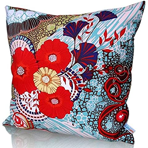 Sunburst Outdoor Living Adore Rosso marocchino Copriletto Cuscino decorativo federa