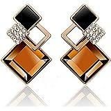 Carry stone Premium Quality Damenmode Rhombic Strass Eardrop Korean Style Ohrringe Partei Schmuck