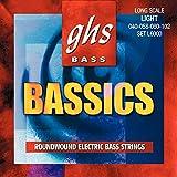 CUERDAS BAJO ELECTRICO-GHS (L/6000) Bassics/Lite (Juego Completo 040/058/080/102)