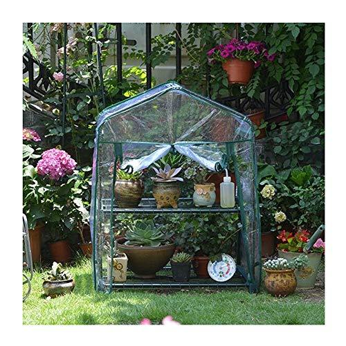 CAIJUN Draussen Garten PVC Regenhülle Gewächshaus staubdicht Blumenstand Stahlrahmen, 3 Größen